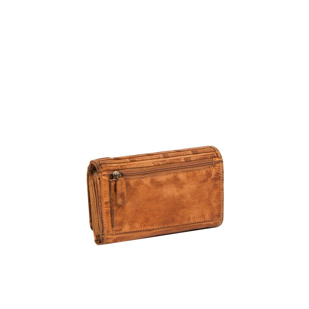 Justified® - Chantal - Portemonnee - Wallet - Leer - Cognac