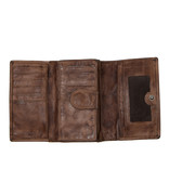 Justified Bags® Chantal - Wallet - Leather - 15x4x10cm - Brown
