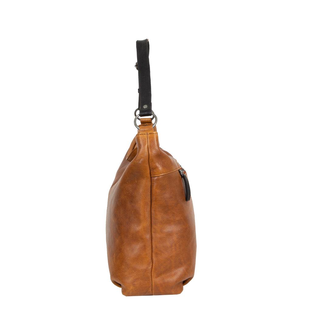 Dyon Cognac shopper 2 tone