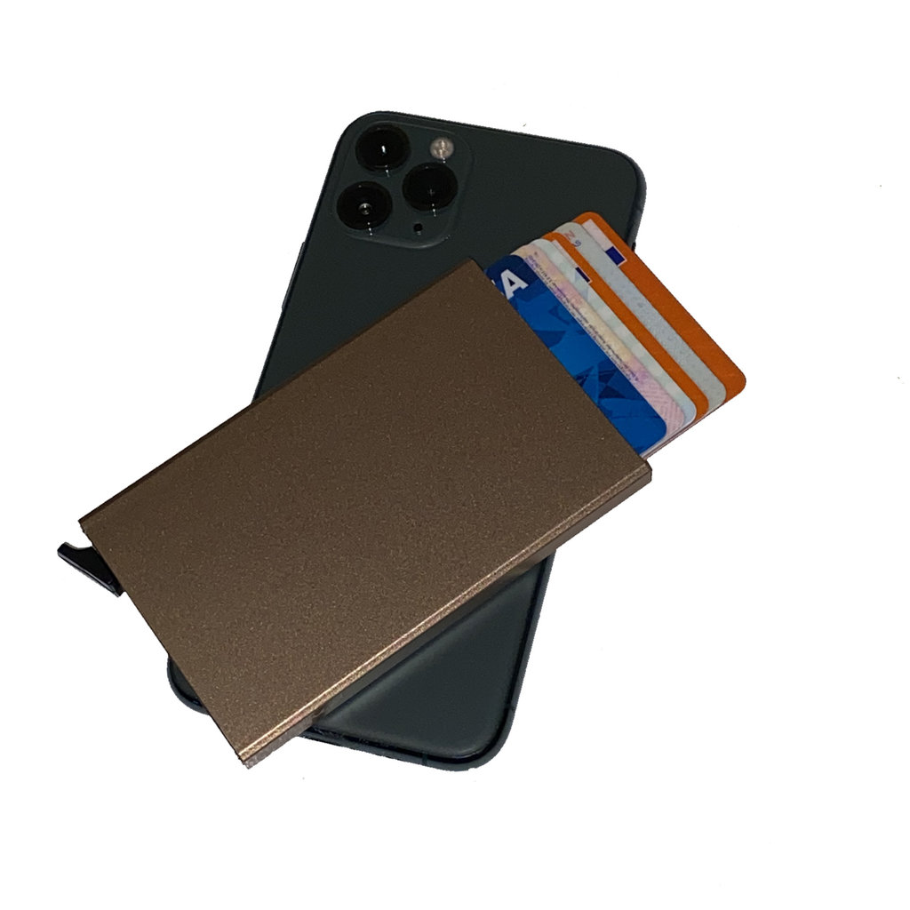 Justified Basic Creditcardhouder / RFID Card Protector Copper