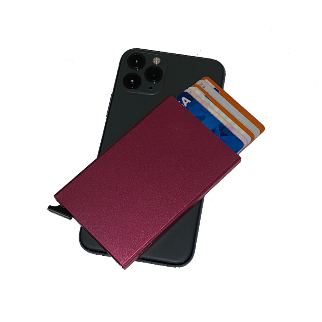 Justified® Basic - Creditcard Holder - RFID - Card Protector - Fuchsia