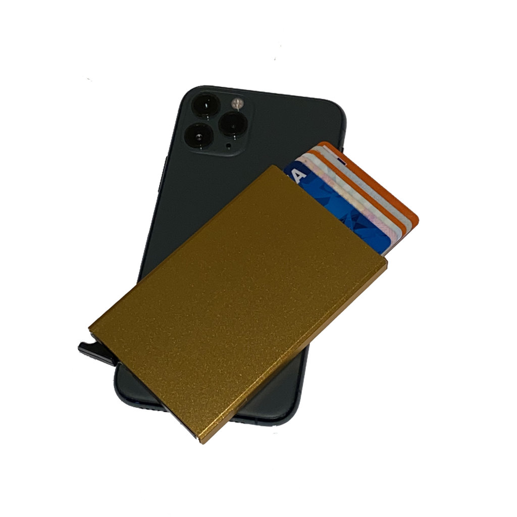Justified Bags® Basic - Creditcard Holder - RFID - Card Protector - Gold