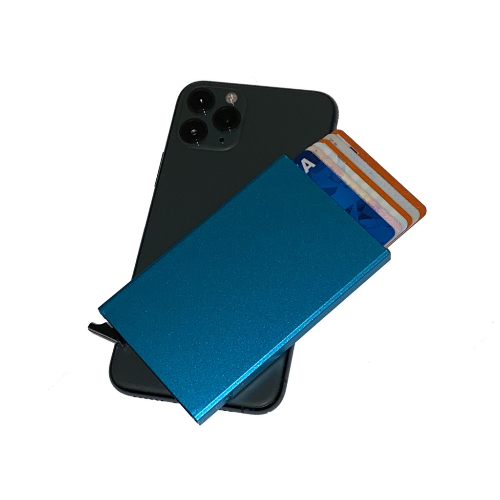 Justified® Basic - Creditcardhouder - RFID - Card Protector - Zacht Blauw