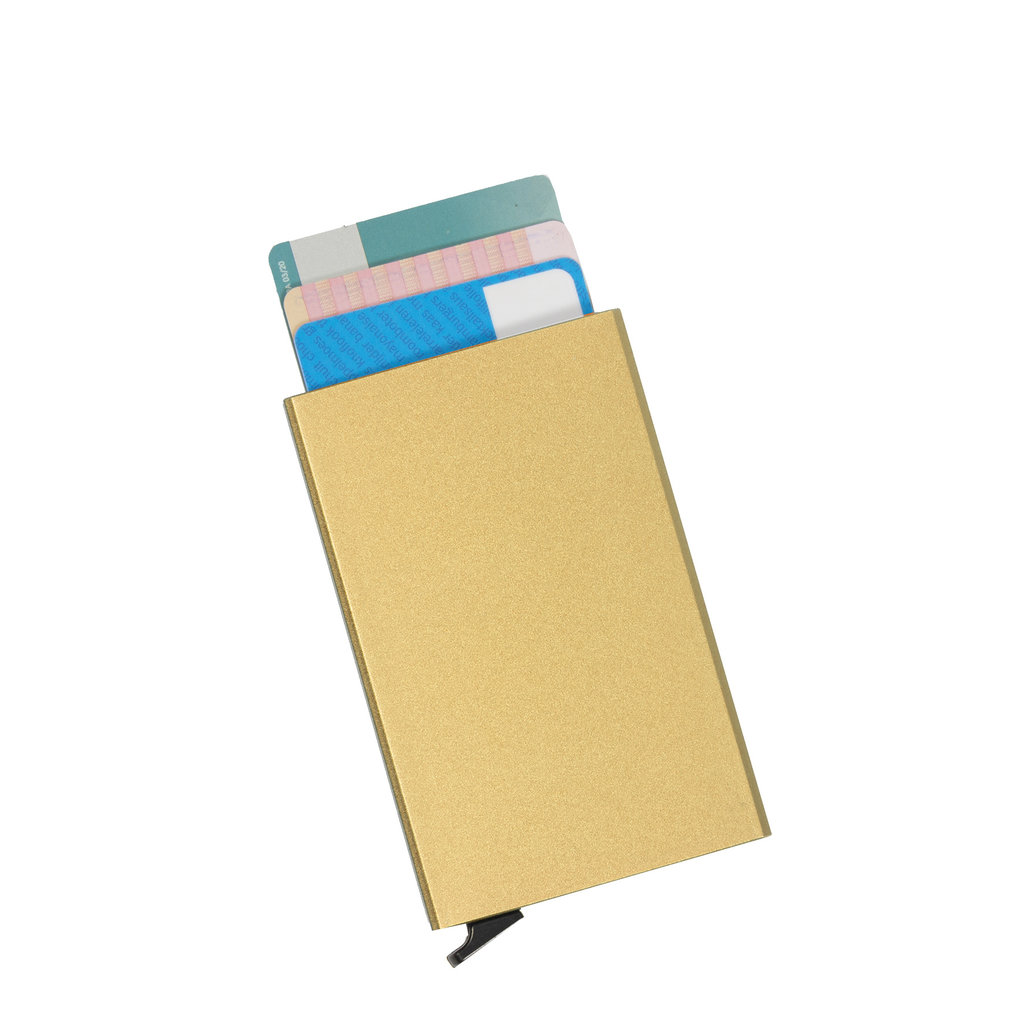 Justified® Basic - Creditcard Holder - RFID - Card Protector - Gold/Sand
