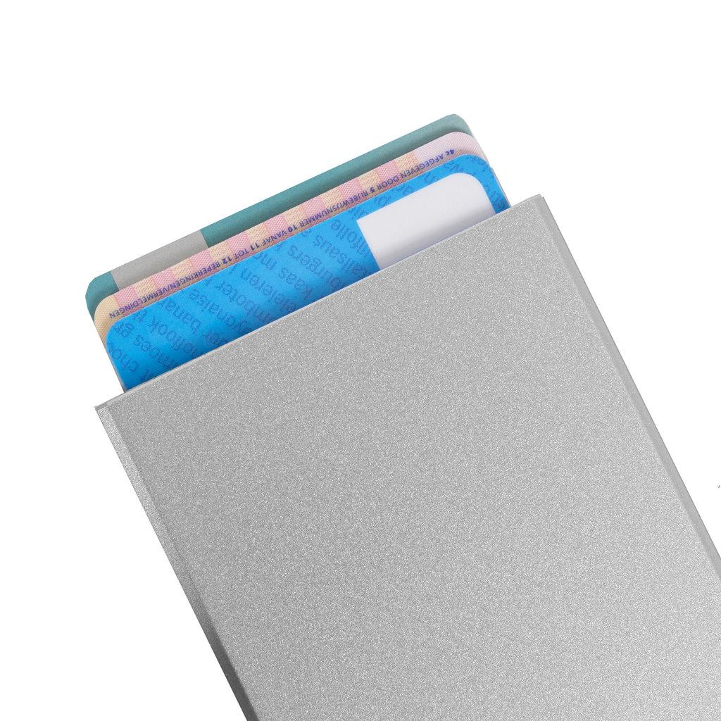Justified® Basic - Creditcard Holder - RFID - Card Protector - Grey/Silver