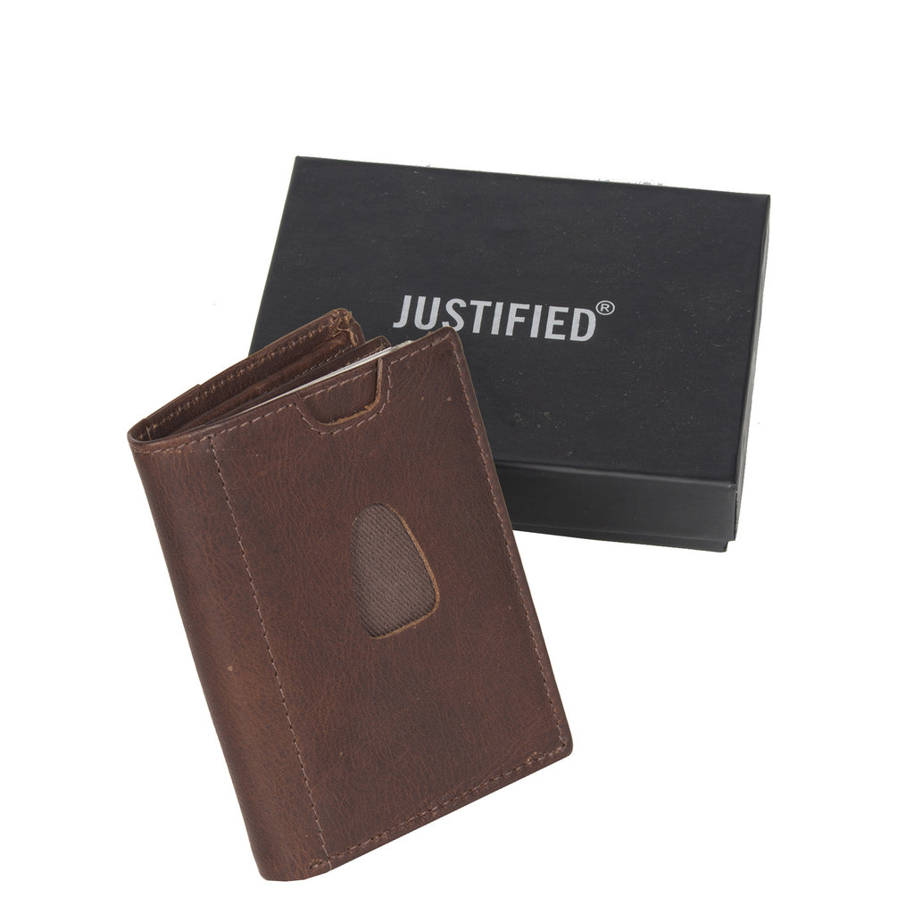 Leather nappa 12 card holder brown coins pocket inside + box - Copy