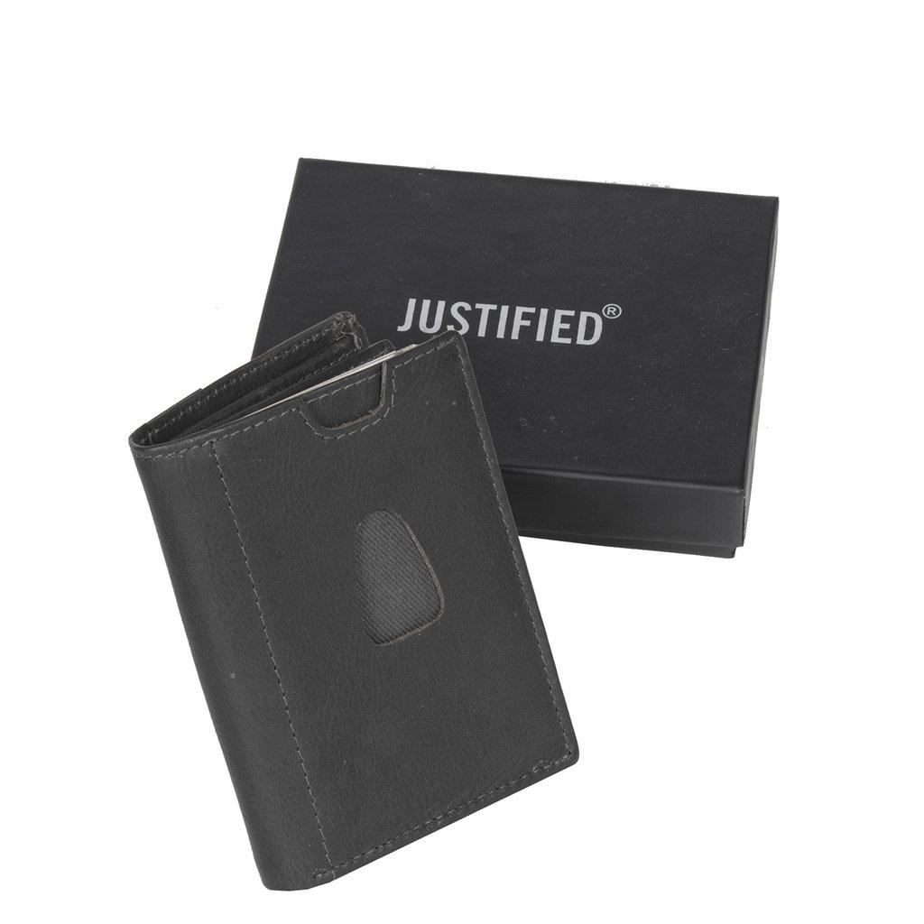 Leather nappa 12 card holder black coins pocket inside + box
