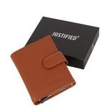 Leather Nappa credit case holder cognac + box