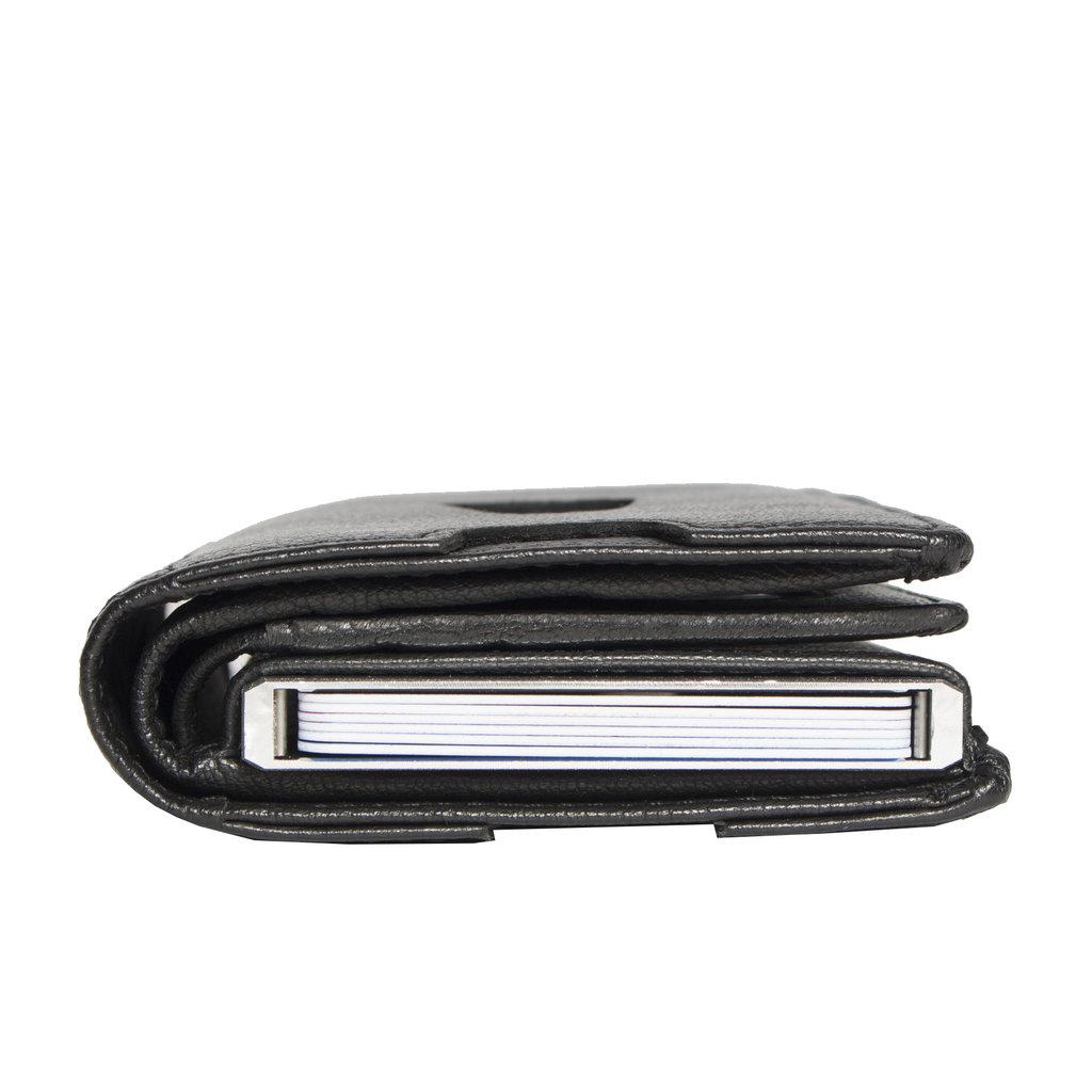 Leather hunter credit case holder black+box