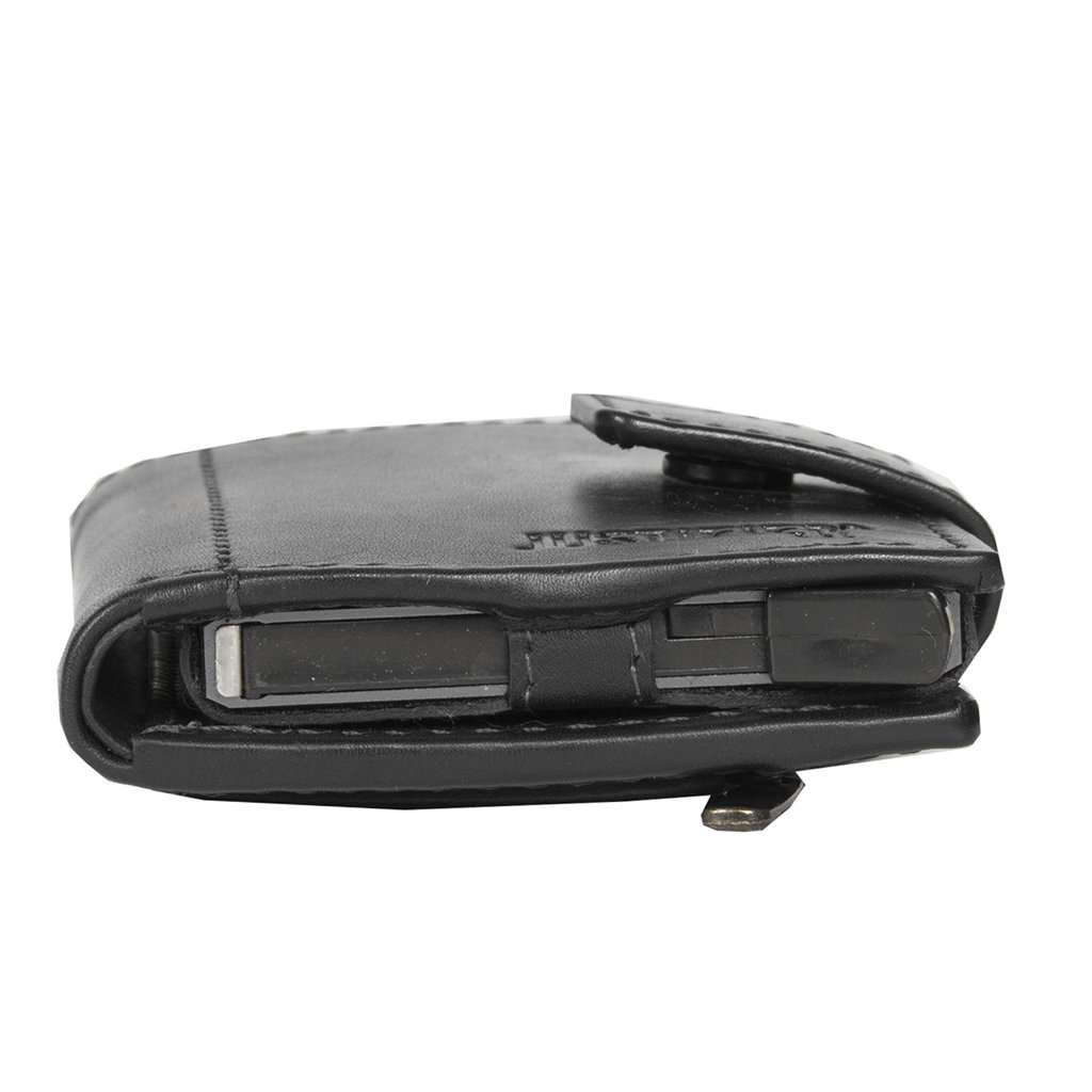Jusitfied black hunter CC holder w coin pocket + box