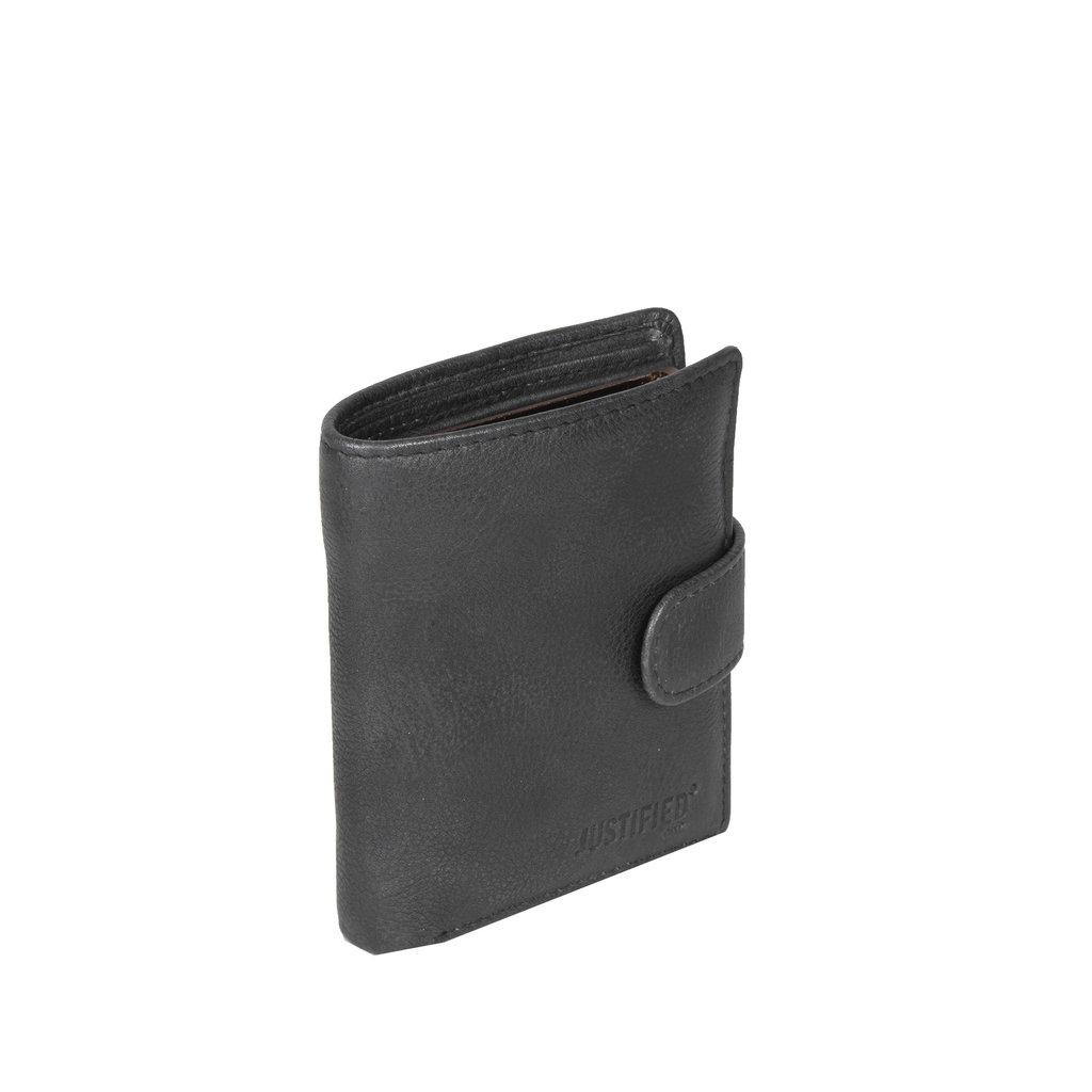 Kailash Leder creditcard holder black + coin pocket + box
