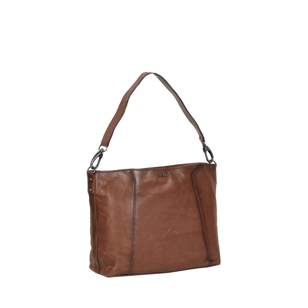 Justified Bags® Pluto Flamed Shoulderbag Brown