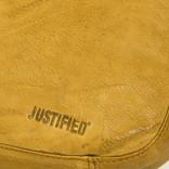Justified® - Saira - Schoudertas - Ritssluiting - Leer - Oker