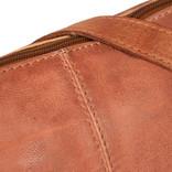 Justified Bags® Kailash - Bannana - Shoulder bag - Medium - Top Zip - 34x8x25cm - Cognac