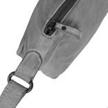 Justified Bags® Kailash - Bannana - Shoulder bag - Medium - Top Zip - 34x8x25cm - Grey