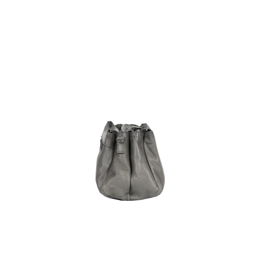 Justified Bags® Pluto Flamed 3 Compartimenten Shoulderbag Grey