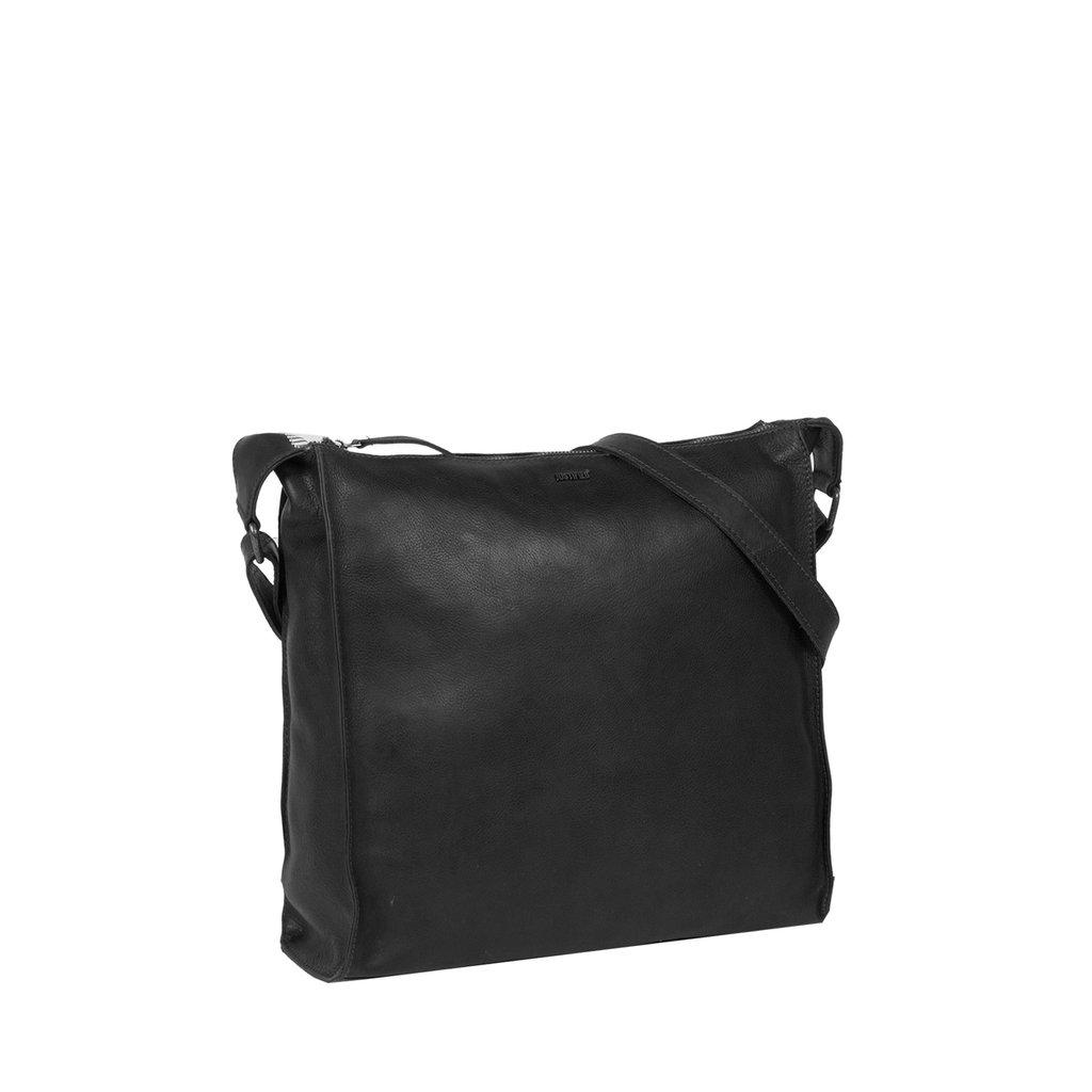 Justified Bags® Nynke Square Schoudertas  Zwart
