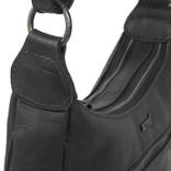 Justified Bags® Nynke Double Top Zip  Schoudertas Zwart
