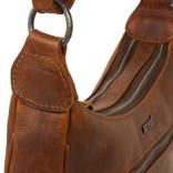 Justified Bags®  Nynke Double Top Zip Shoulderbag Cognac