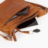 Justified Bags®  Nynke Double Top Zip  Schoudertas Cognac