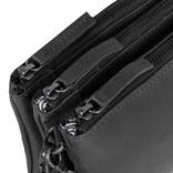 Justified Bags® Nynke Tripple Top Zip Shoulderbag Black