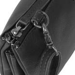 Justified Bags® Nynke 3 compartimenten 1 Top Zip Schoudertas Zwart