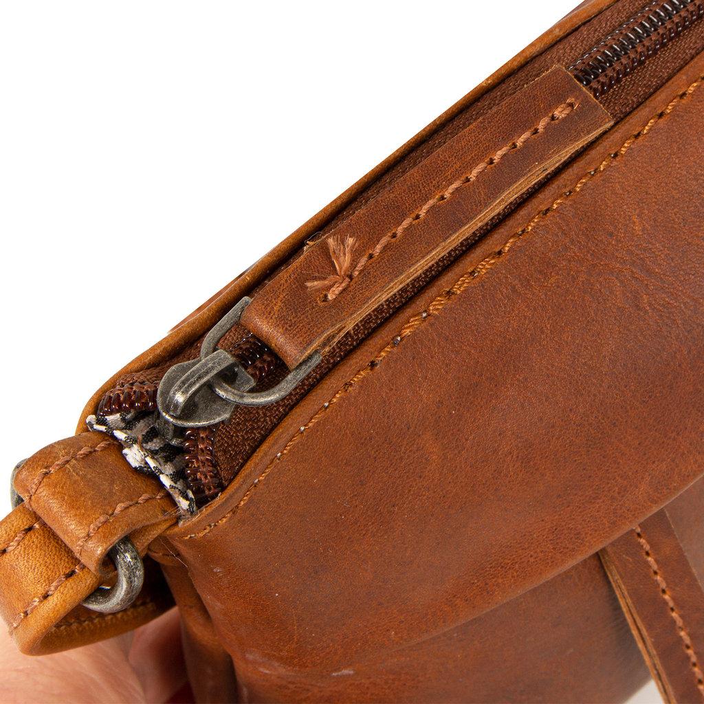 Justified Bags®  Nynke Small Folded Schoudertas Cognac