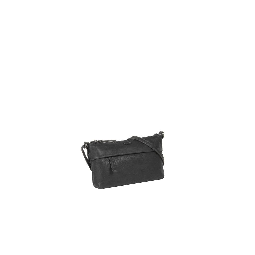Justified Bags®  Nynke Small Folded Schoudertas Zwart