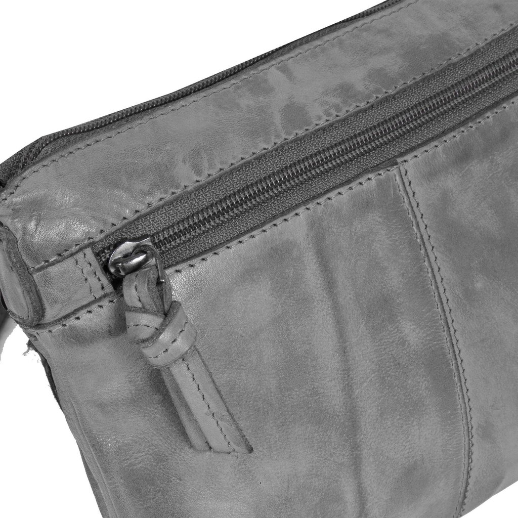 Justified Bags® Roma Top Zip Grey