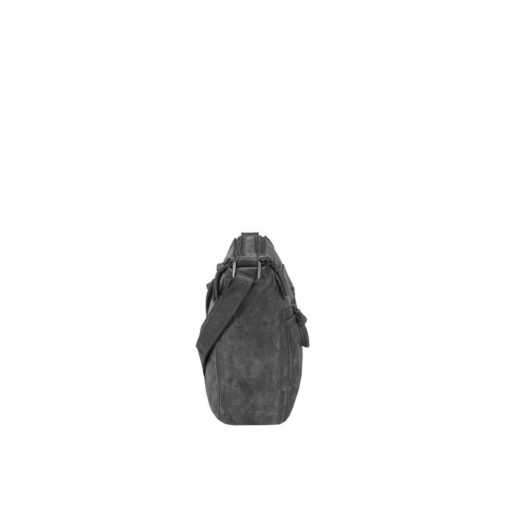 Justified Bags® Roma Big Top Zip Black