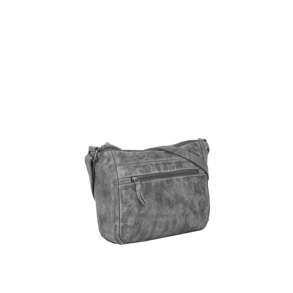 Justified Bags® Roma Big Top Zip Grey