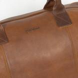 Dyon Cognac weekender bag 2 tone