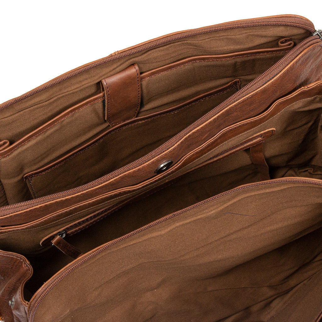 Dyon Brown business bag 2 tone
