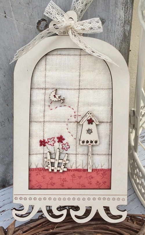 The Bee Company Mini Patchwork Kit - Flower Cage Frame - KTB77