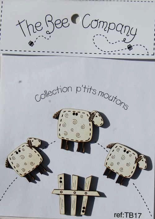 The Bee Company Buttons litlle sheeps