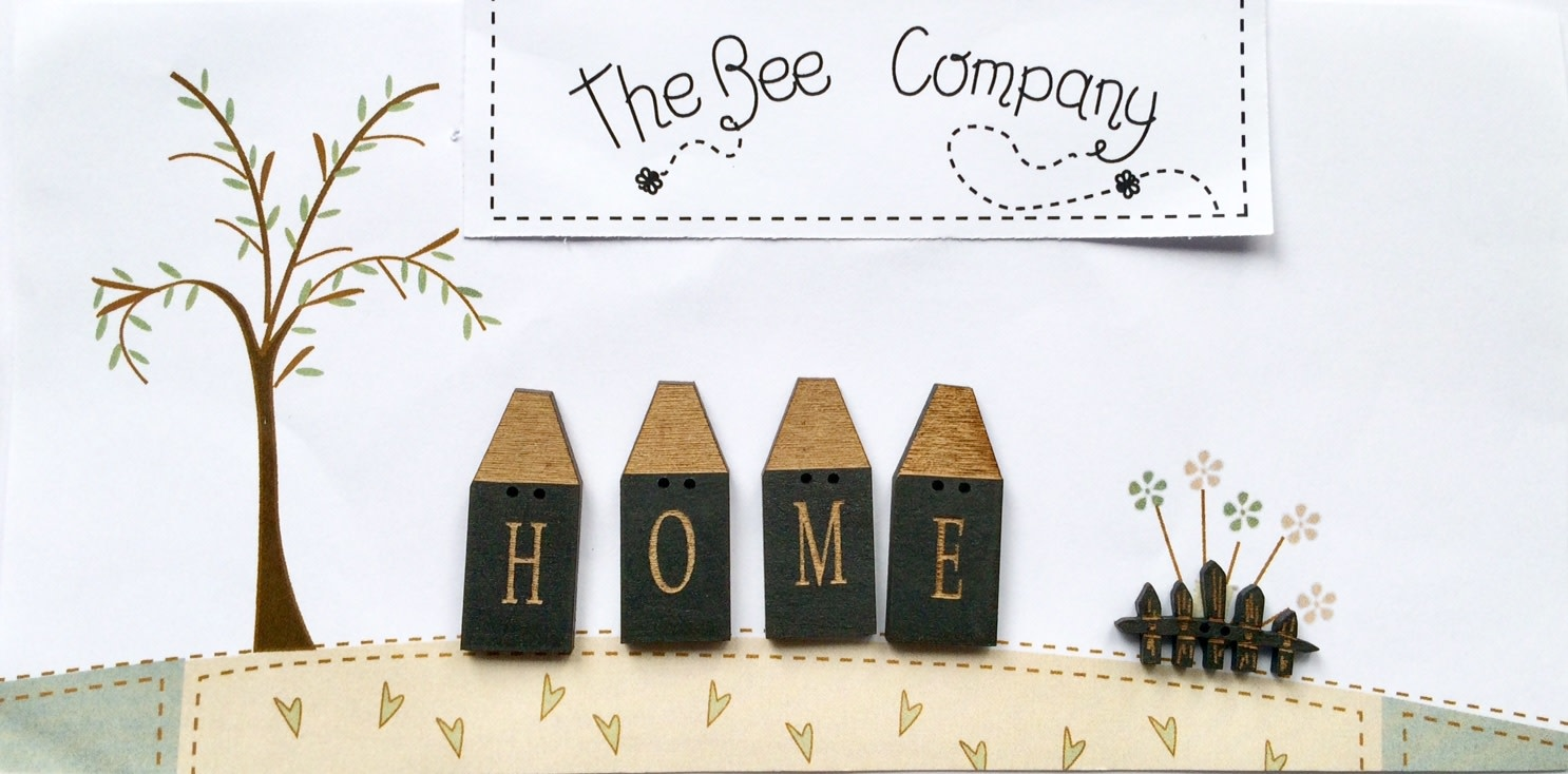 """The Bee Company 4 Houses """"Home"""" - TB6D"""