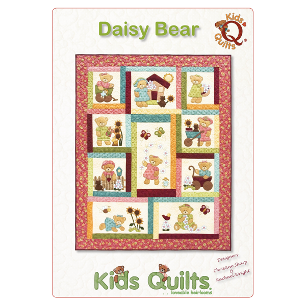 Daisy Bear Girls Bed Quilt