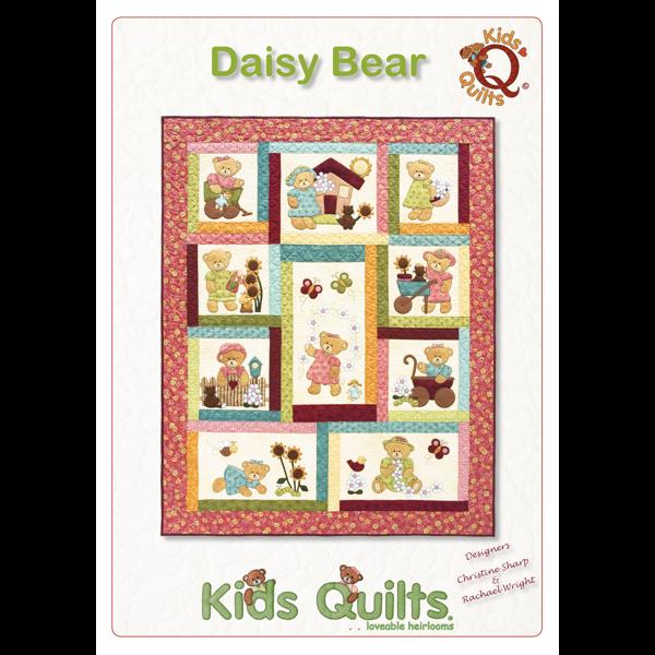 Kids Quilts Daisy Bear Girls Bed Quilt