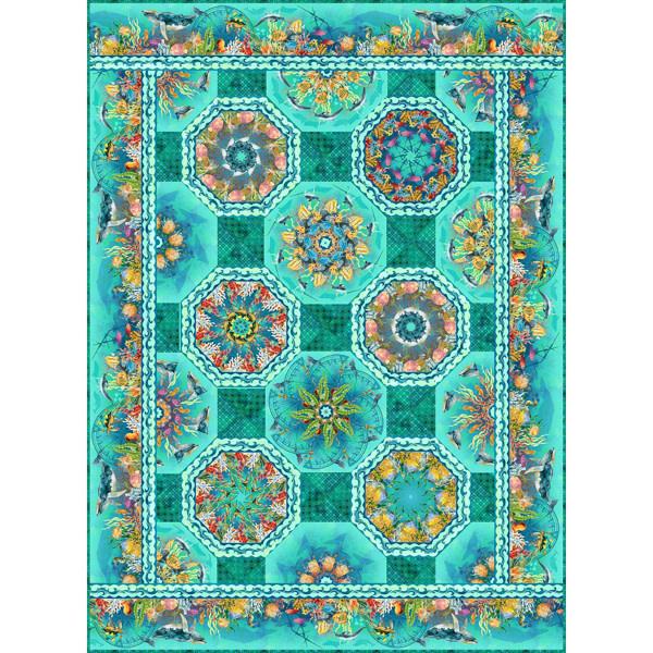 Benartex Calypso Kaleidoscope Patroon