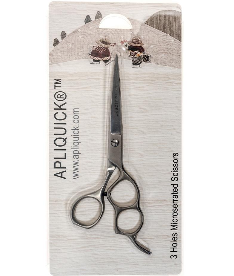 Apliquick 3 Holes Microserrated Scissors - Apliquick
