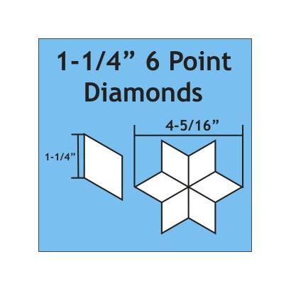 "Paper Pieces 1-1/4"" 6 Degree Diamonds - 75 pieces"