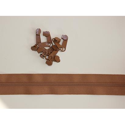 RinskeStevens Baggy Zipper Large - Goud Bruin