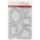 "1"" Honeycomb, 1"" Half Hexagon, 1"" Triangel, 1"" Square, 1"" Kite -  CRP0028"