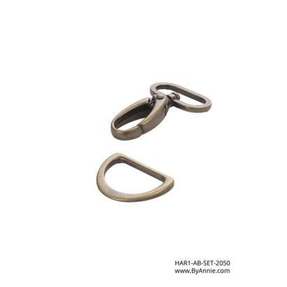 """byAnnie 1"""" Antique Brass - Hardware Set 2050"""