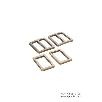 """byAnnie 1"""" Antique Brass - Hardware Set 2100"""