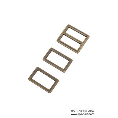 """byAnnie 1"""" Antique Brass - Hardware Set 2150"""