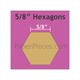 "Paper Pieces 5/8"" Hexagon - 100 Pieces"