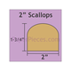"Paper Pieces 2"" Scallop - 45 Pieces"