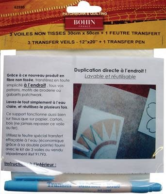 Bohin 3 sheet of transfer paper + 1 transfer felt-tip pen
