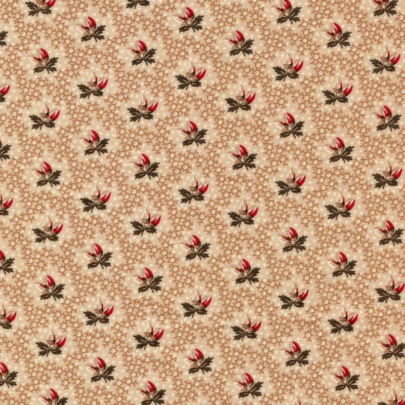 Dutch Heritage Dutch Heritage - 1015 Light Brown Flowers